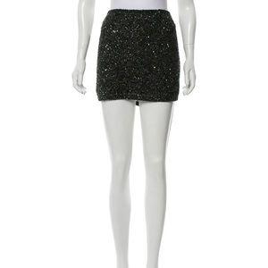 Haute Hippie sequined/beaded skirt